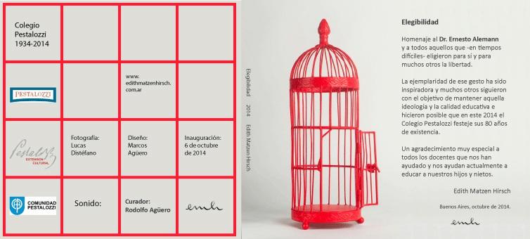 Exhibición de Edith Matzen Hirsch en el Auditorio de la Asociación Cultural Pestalozzi