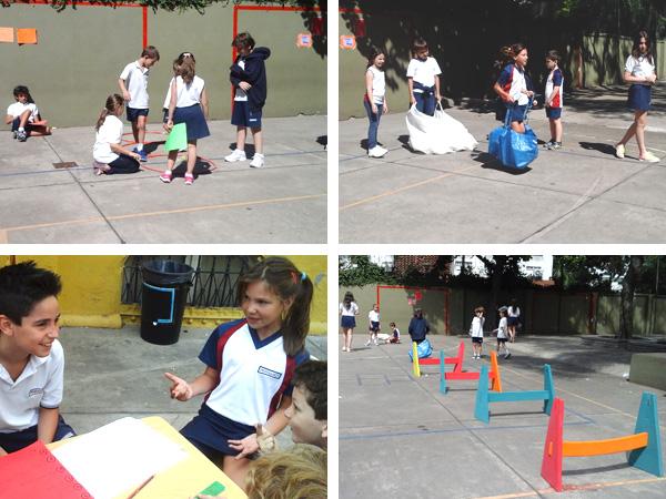 Alumnos de Quinto Grado prepararon una competencia de juegos de ingenio para los alumnos de Segundo Grado