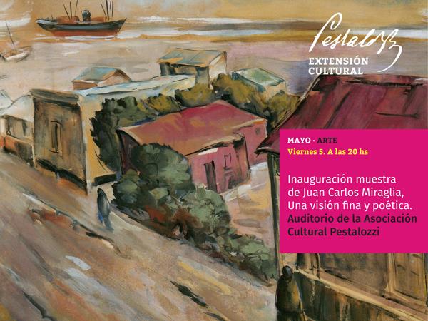 Inauguración de la muestra de Juan Carlos Miraglia