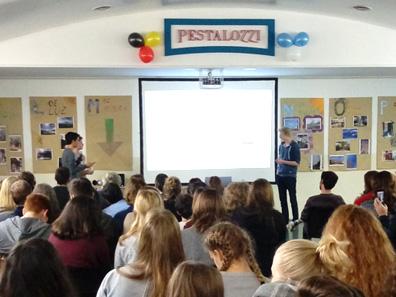 Muestra de alumnos alemanes de intercambio
