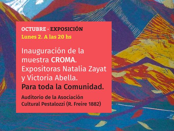 Inauguración de la muestra CROMA