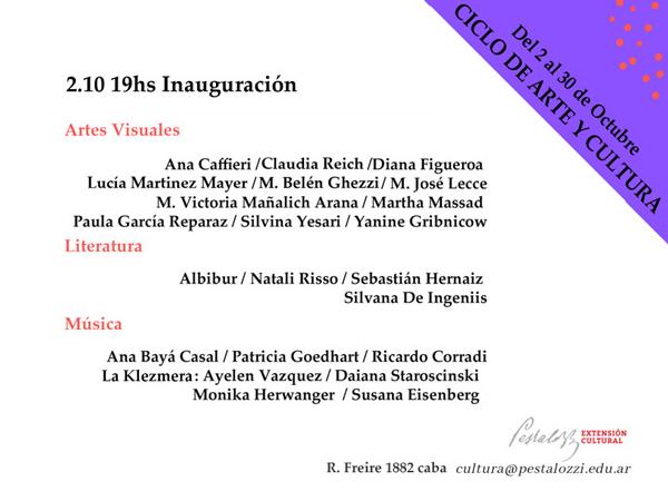 Inauguración Ciclo de Arte y Cultura Pestalozzi 2019