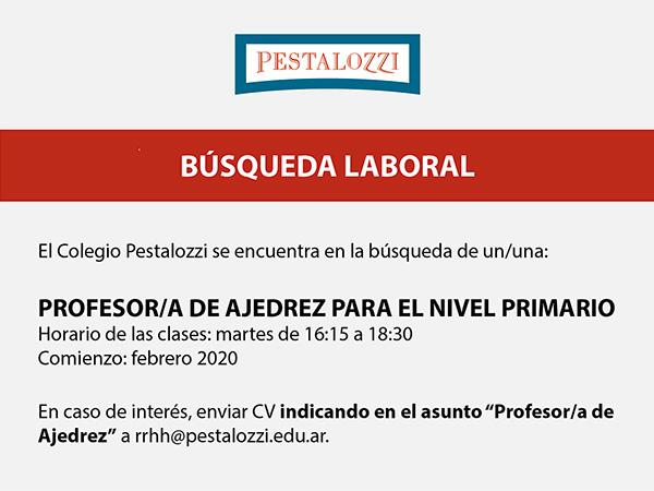 Profesor/a de Ajedrez para el Nivel Primario